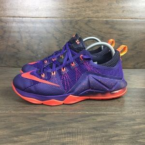 Nike Lebron XII 12 Low Raptors Size 7 Youth